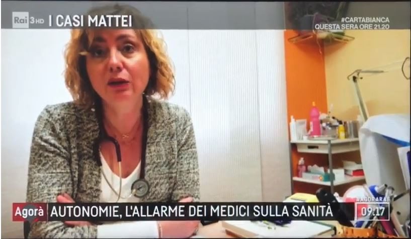 Video – Intervento Segretario Generale Onotri ad Agorà Rai3 – 19.02.2019