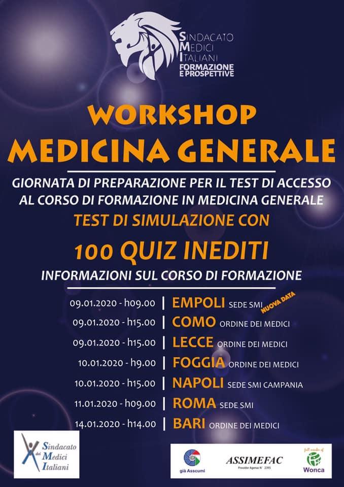 Workshop di Medicina Generale SMI Formazione e Prospettive